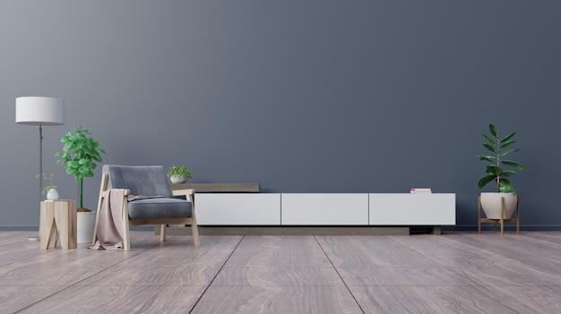 Armadio in soggiorno moderno con poltrona