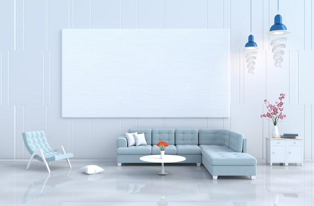 Arredamento bianco, poltrona, divano, parete in legno, orchidea. natale, capodanno. 3d r