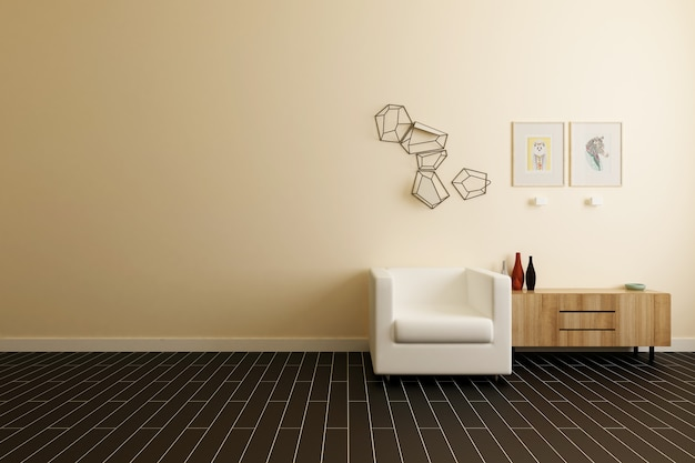 Arredamento interno semplice e moderno