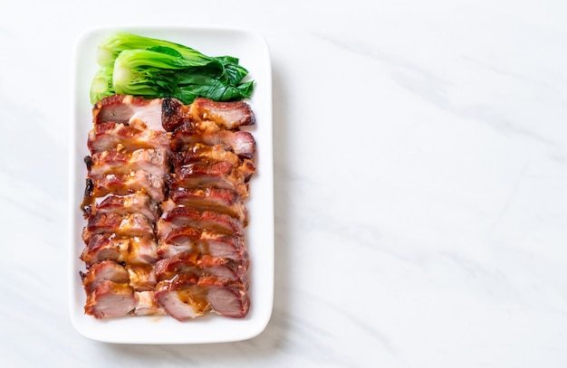 Arrosto di maiale rosso barbecue