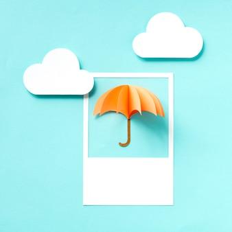 Arte del mestiere di carta di un ombrello