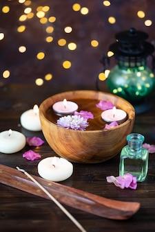 Articoli per aromaterapia, massaggio. tema relax e spa
