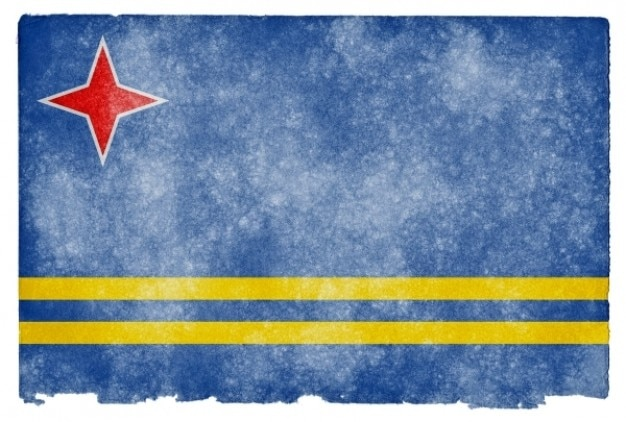 Aruba grunge flag