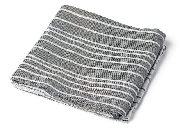 Asciugamano da cucina isolato su sfondo bianco