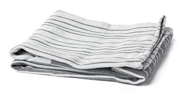 Asciugamano di cucina isolato su fondo bianco