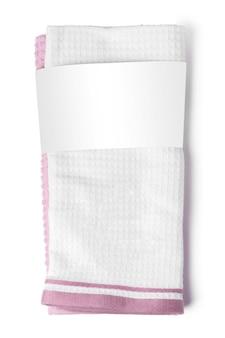 Asciugamano isolato sulla fine bianca del fondo su