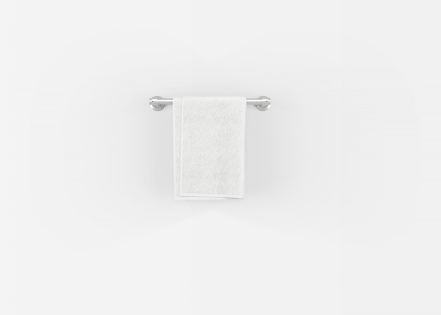 Asciugamano su una gruccia sul muro