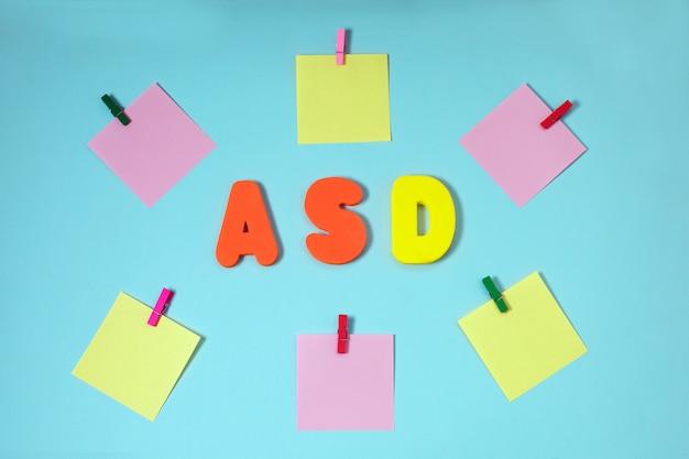 Asd. disturbo dello spettro autistico.