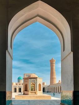 Asia centrale. uzbekistan, bukhara city architettura antica