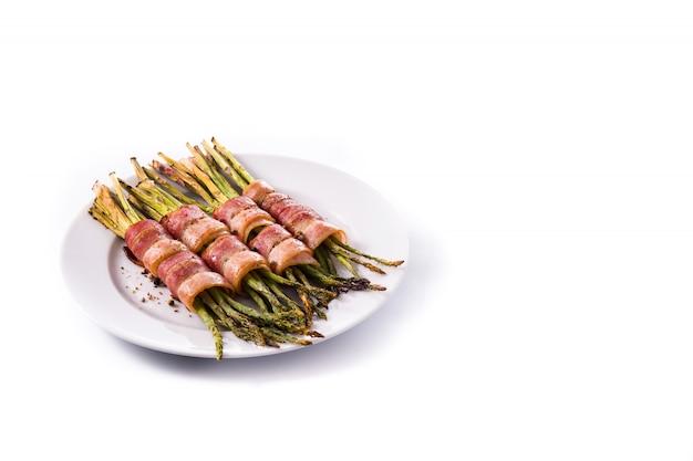 Asparagi verdi avvolti con pancetta