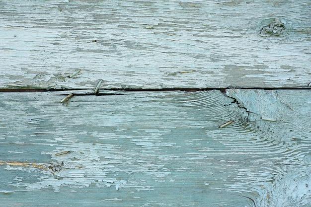 Assi di legno blu dipinto malandato