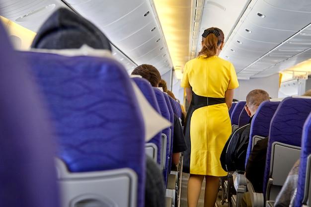 Assistenti di volo sfocati, hostess di volo