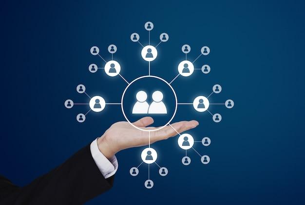 Assistenza e assistenza ai clienti aziendali, risorse umane e social network