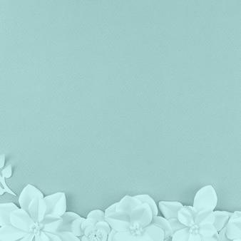 Assortimento con fiori e sfondo blu