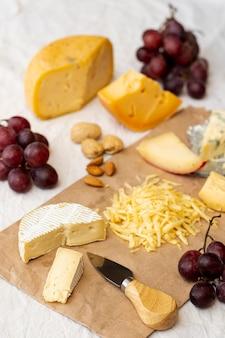 Assortimento di close-up di deliziosi snack