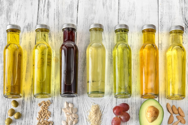 Assortimento di oli vegetali