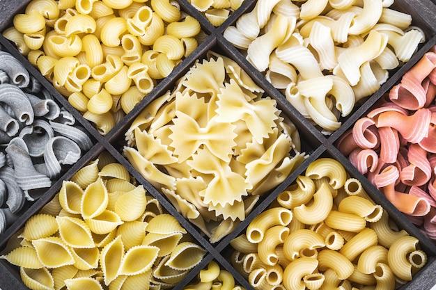 Assortimento di pasta italiana