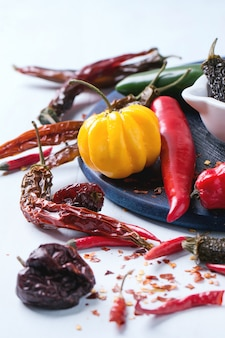 Assortimento di peperoncini piccanti