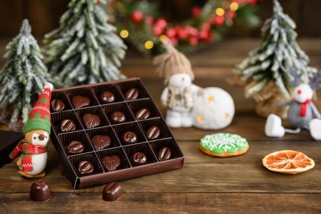 Assortimento di pregiate caramelle al cioccolato