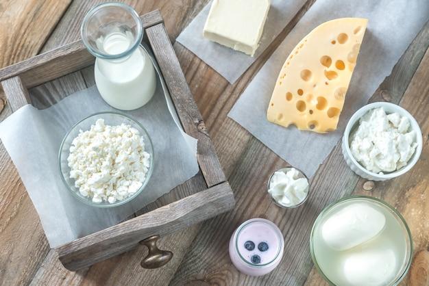Assortimento di prodotti lattiero-caseari