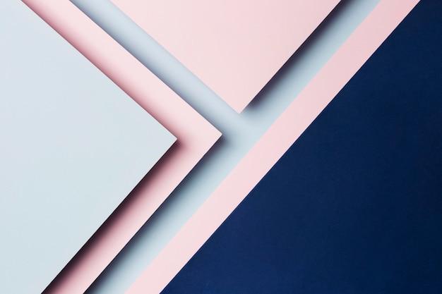 Assortimento di sfondo di fogli di carta multicolore