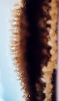 Astratte fibre marroni di materiale tessile