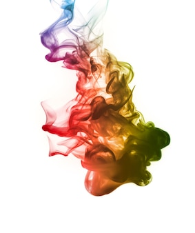 Astratto fumo luminoso e bello di colore