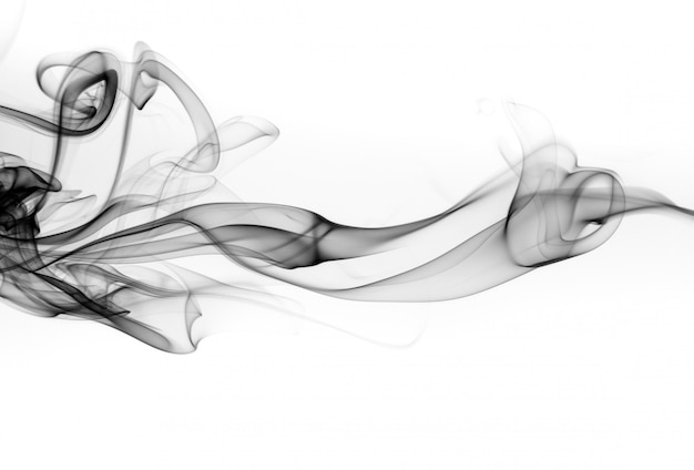 Astratto fumo nero, disegno del fuoco
