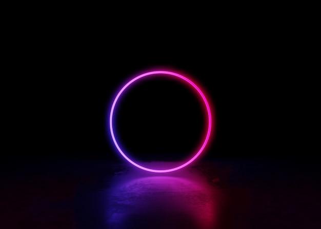 Astratto sfondo al neon e vorticoso luminoso