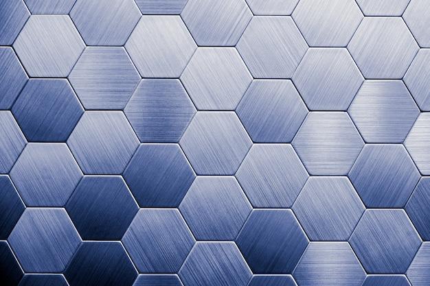 Astratto sfondo argento metallo. esagoni geometrici.