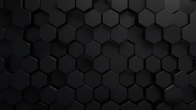 Astratto sfondo esagonale. concetto di tecnologia futuristica. rendering 3d