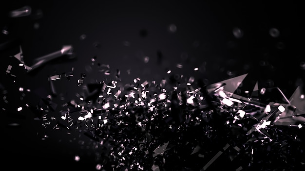 Astratto sfondo nero. rendering 3d.