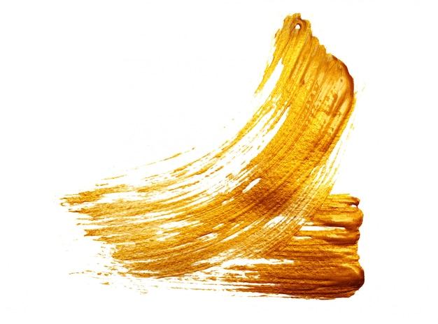 Astratto sfondo oro con pennello acrilico