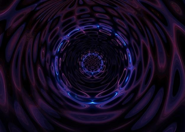 Astratto sfondo psichedelico con colori al neon