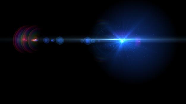 Astratto sole incandescente luce scoppiata con riflesso lente digitale