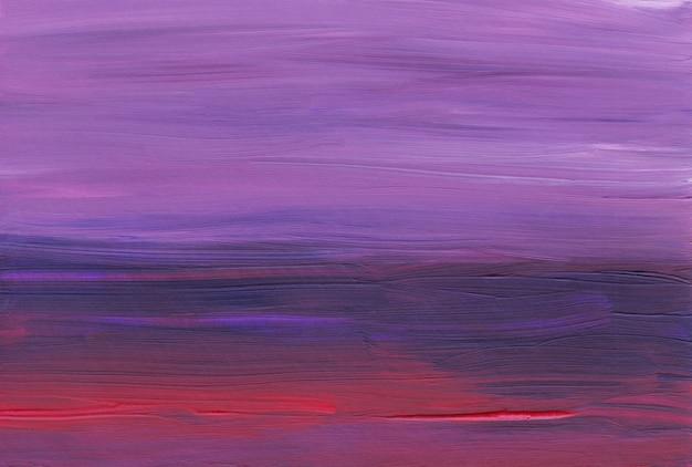 Astrazione rosso scuro, viola e rosa. sfondo ad olio dipinto a mano.