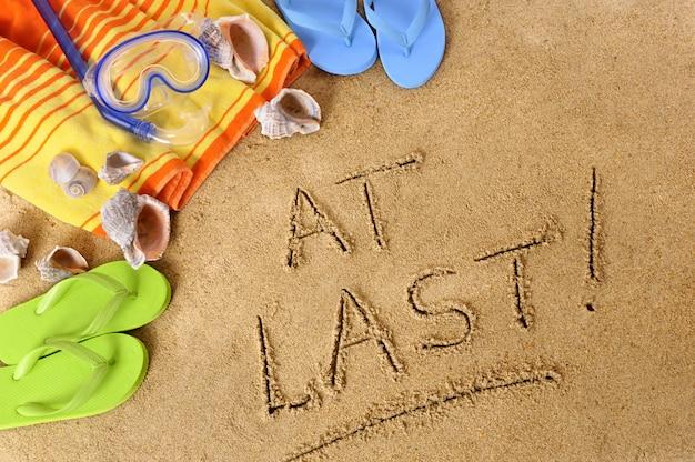 At last beach message