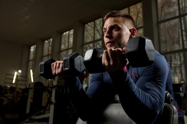 Atleta che si esercita