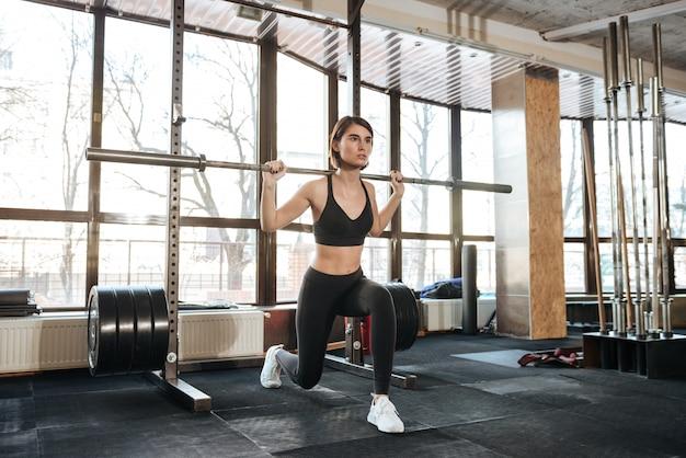 Atleta di giovane donna