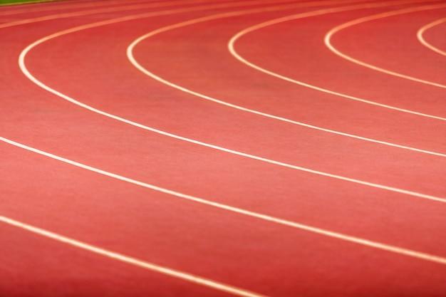 Atletica traccia primo piano