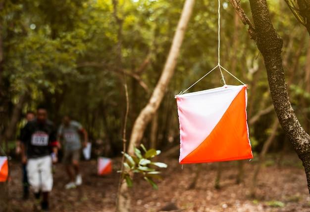 Attività del punto di controllo per l'orienteering all'aperto