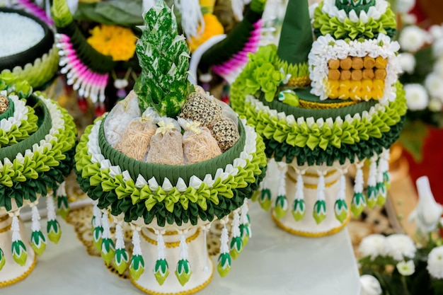 Attrezzatura da cerimonia per cerimonia nuziale tailandese.