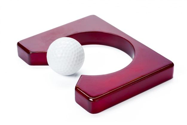 Attrezzatura da golf isolata on white