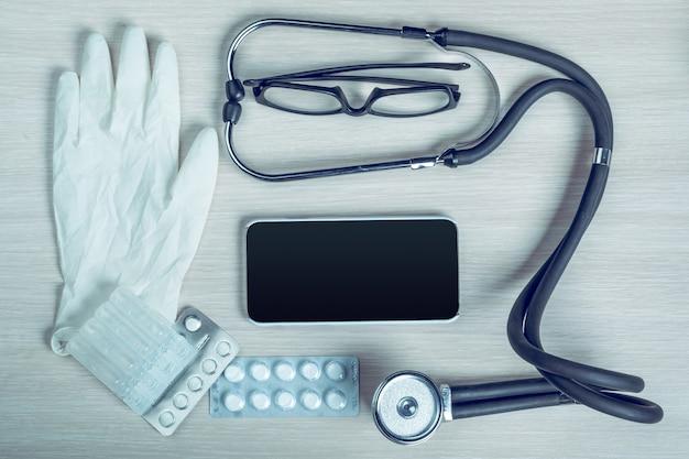 Attrezzatura medica con copyspace