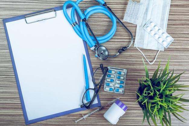 Attrezzature mediche con spazio di copia