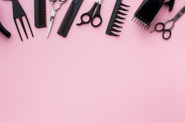 Attrezzature per parrucchieri con spazio di copia