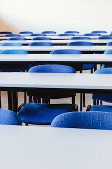 Aula vuota nell'università di istruzione
