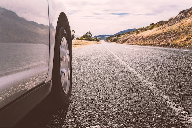 Auto in piedi sulla strada