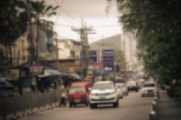 Auto offuscata sulla strada