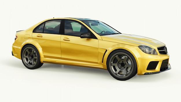 Auto sportiva dorata super veloce